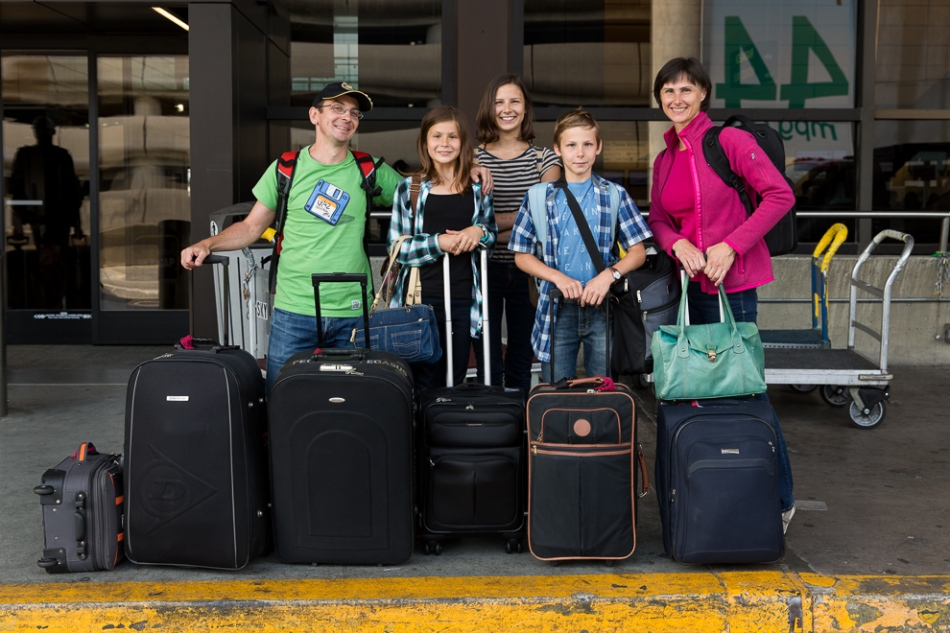 Seattle family photographer Daniel Sheehan photographed his family leaving for SLovakia after a 5 week visit this summer.